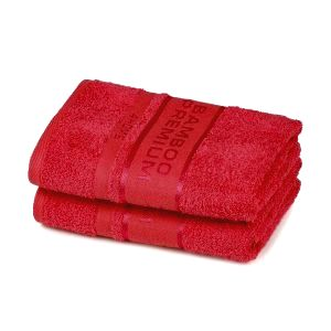 4Home Bamboo Premium uterák červená