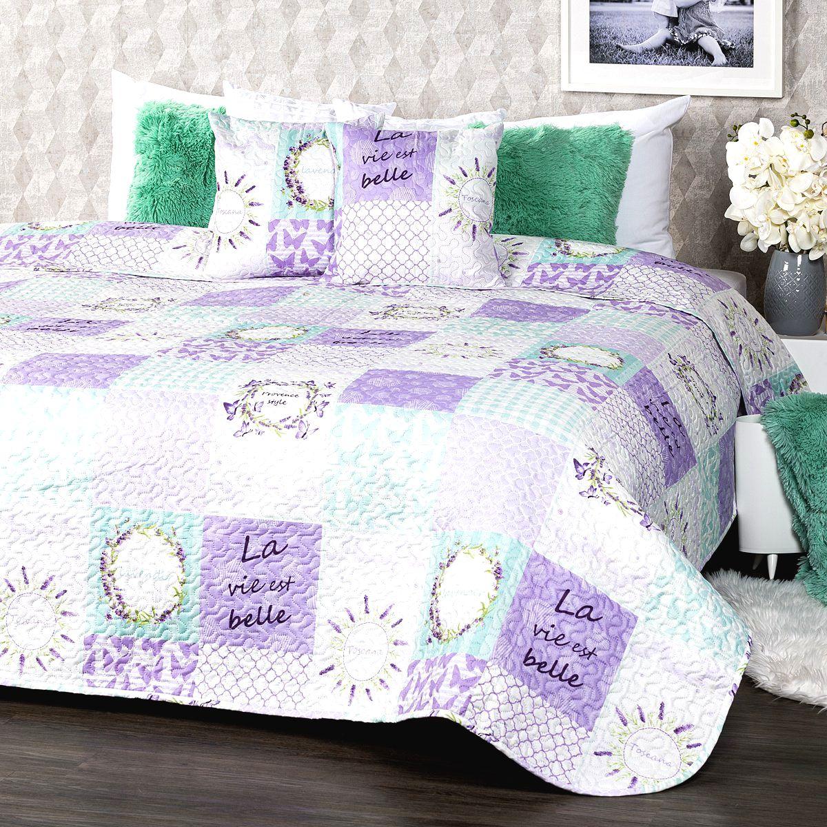 4Home Prehoz na posteľ Lavender