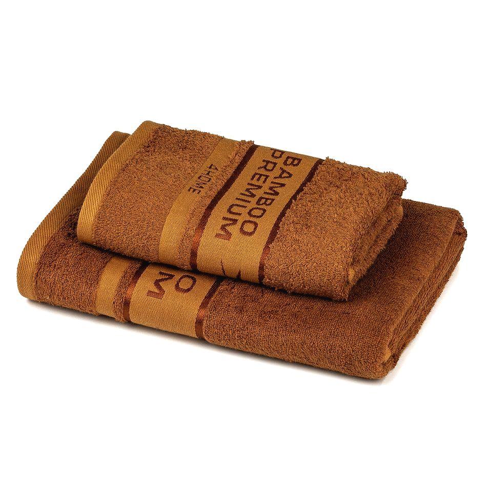 4Home Sada Bamboo Premium osuška a uterák hnedá