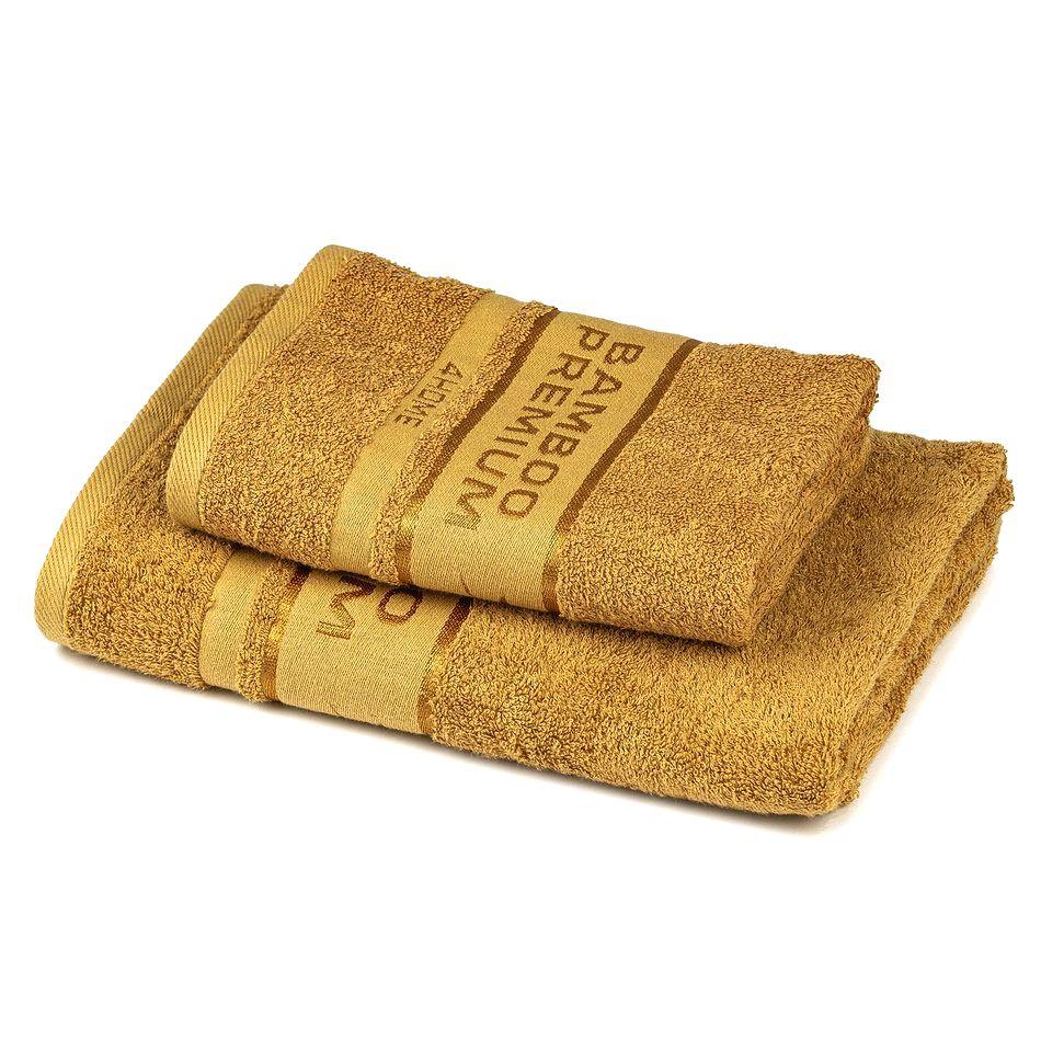 4Home Sada Bamboo Premium osuška a uterák svetlohnedá