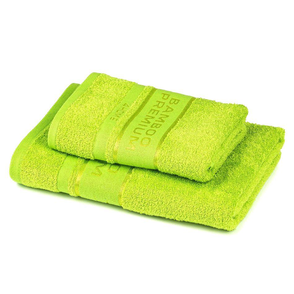 4Home Sada Bamboo Premium osuška a uterák zelená