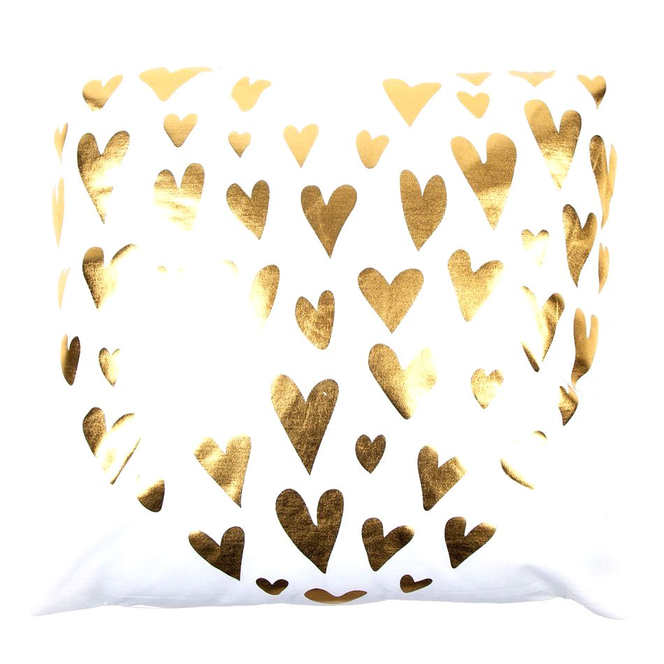 JAHU Vankúšik Gold De Lux Srdce biela