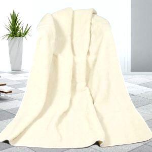 Bellatex Vlnená deka biela