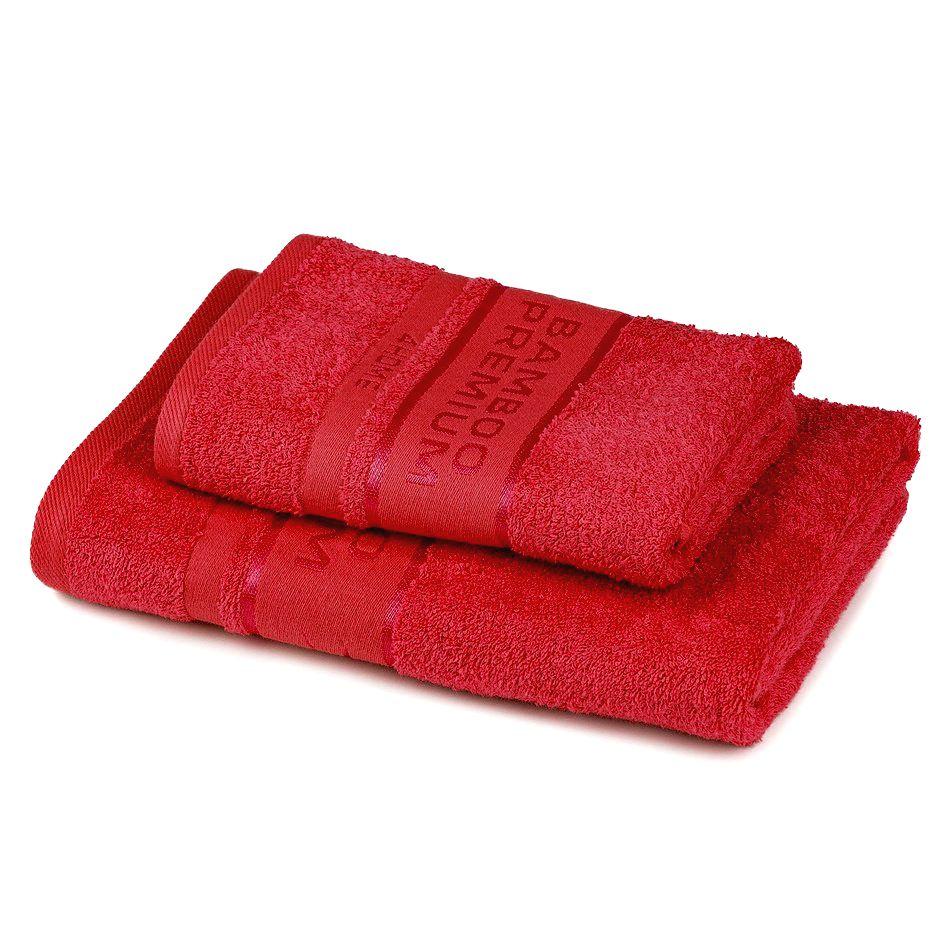 4Home Sada Bamboo Premium osuška a uterák červená