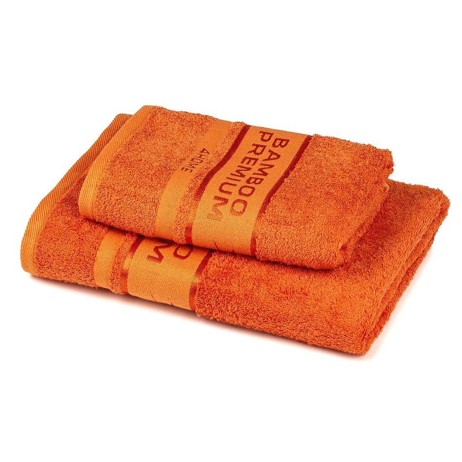 4Home Sada Bamboo Premium osuška a uterák oranžová