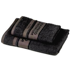 4Home Sada Bamboo Premium osuška a uterák tmavosivá