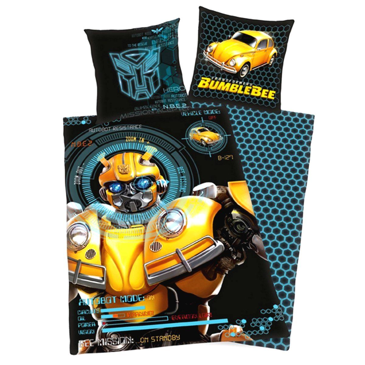 Herding Detské bavlnené obliečky Transformers Blumblebee