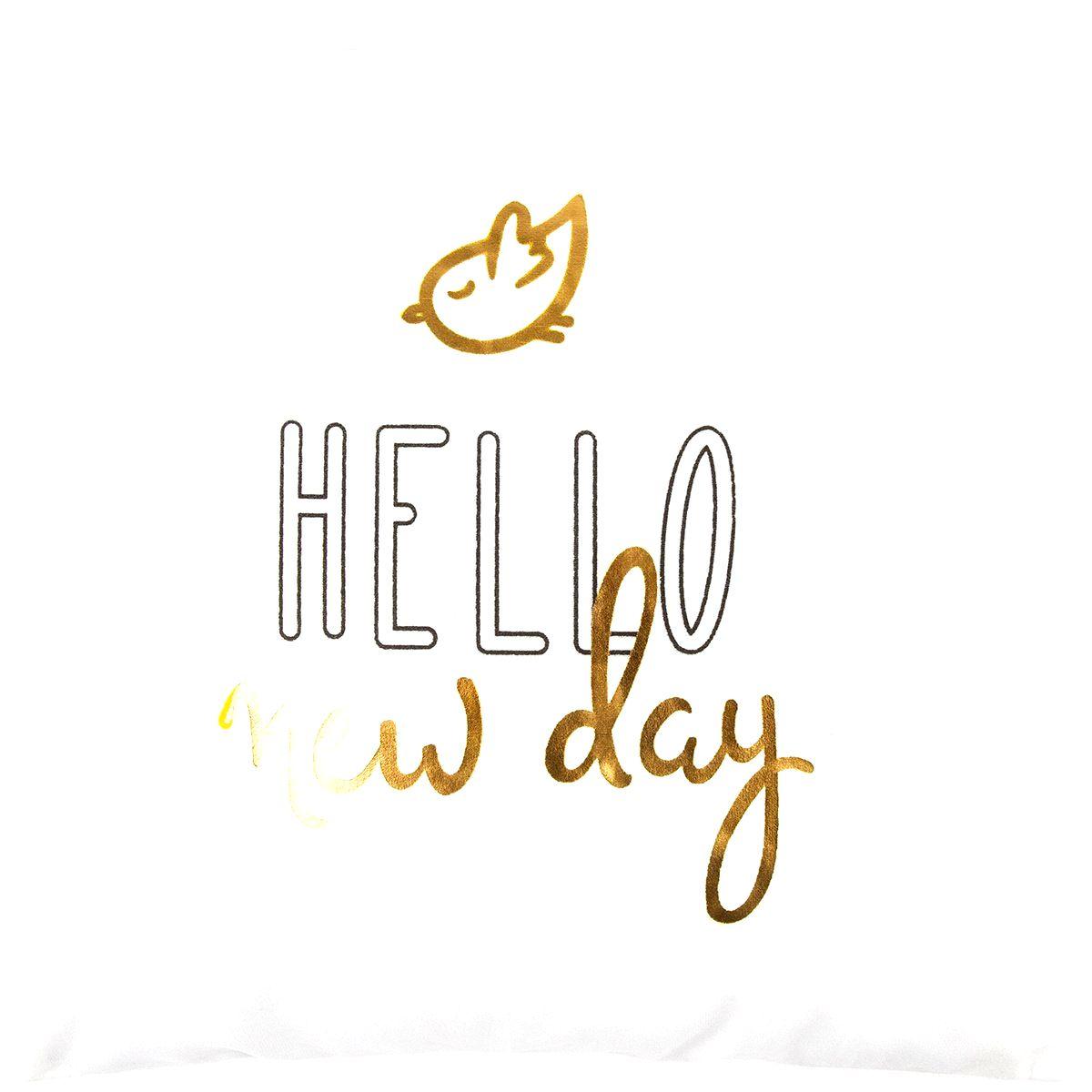 Dakls Obliečka na vankúšik Hello new day biela