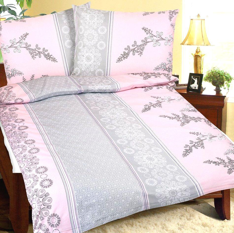 Bellatex Krepové obliečky Krík ružovo-sivá