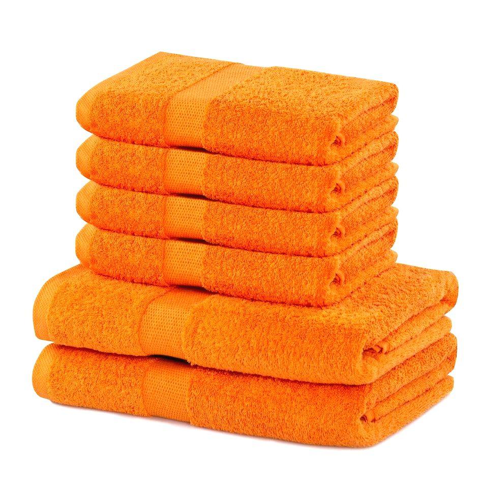 DecoKing Sada uterákov a osušiek Marina oranžová