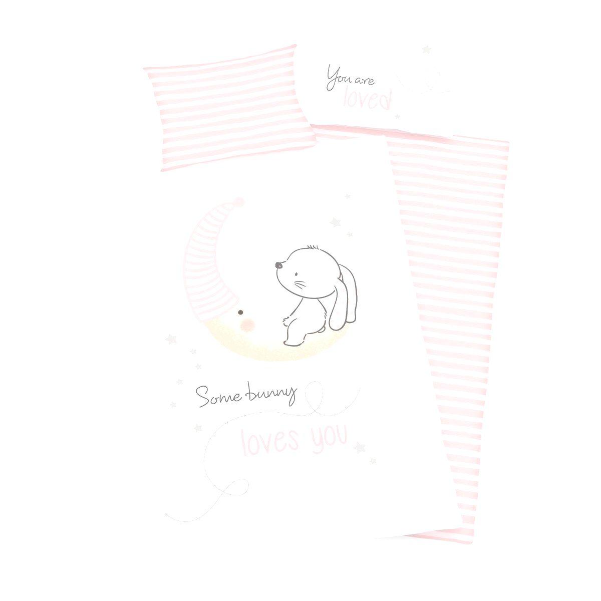 Herding Detské bavlnené obliečky do postieľky Little Bunny