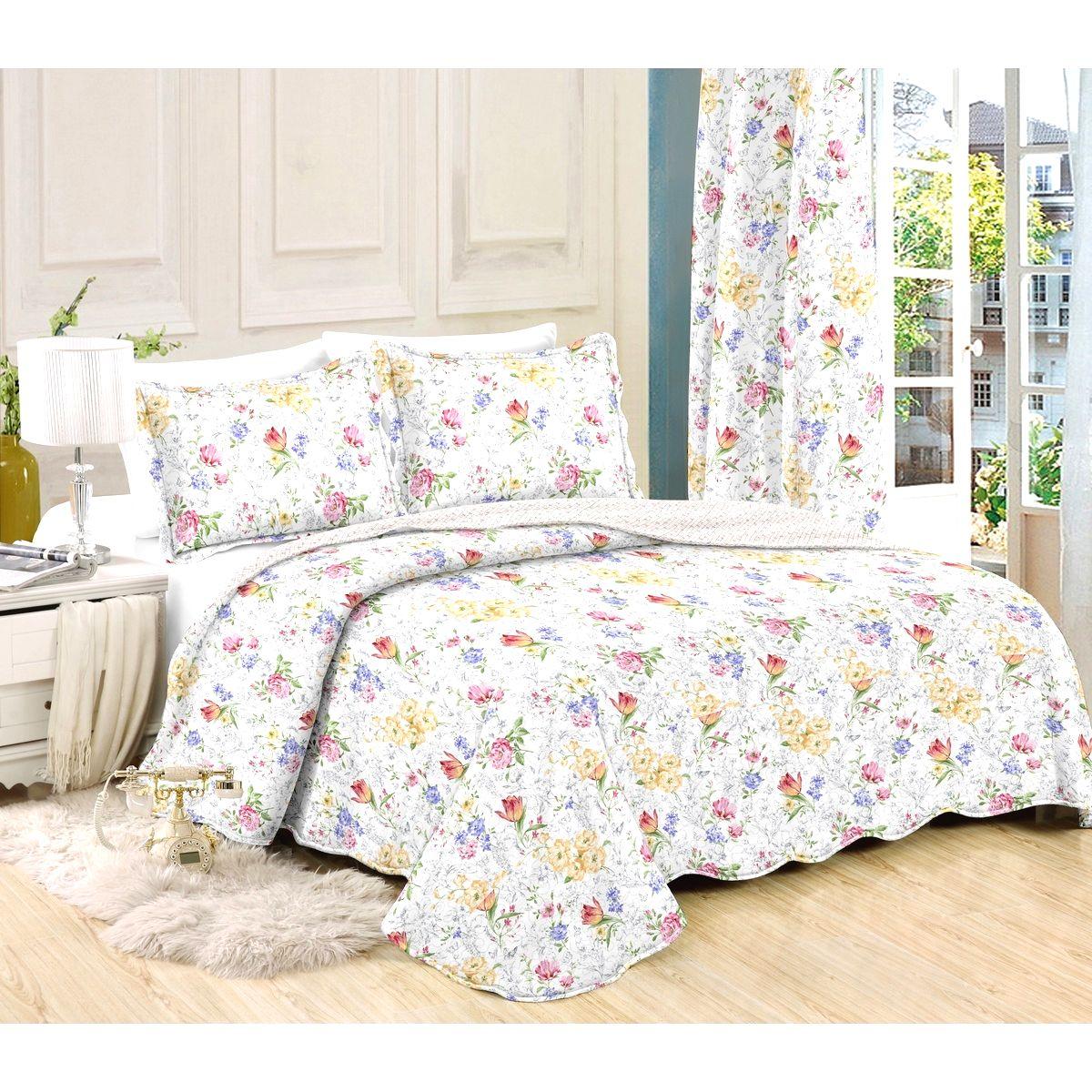 Prehoz na posteľ Kvetiny